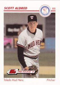 1991 Line Drive Pre-Rookie Scott Aldred