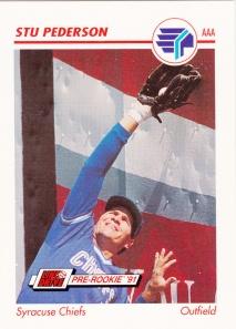 1991 Line Drive Pre-Rookie Stu Pederson