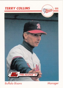 1991 Line Drive Pre-Rookie Terry Collins