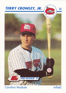 1991 Line Drive Pre-Rookie Terry Crowley, Jr