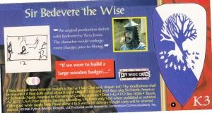 1996 Cornerstone Monty Python & The Holy Grail Sir Bedevere Insert back