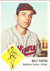 1963 Fleer Milt Pappas