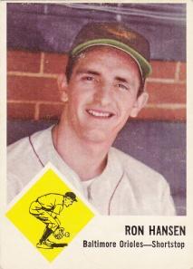 1963 Fleer Ron Hansen