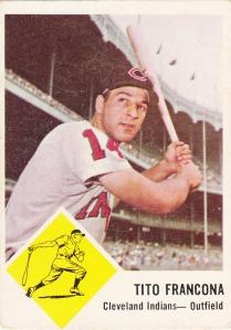 1963 Fleer Tito Francona