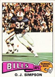 1975 Topps Football OJ Simpson
