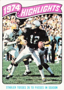 1975 Topps Football Stabler Hilights
