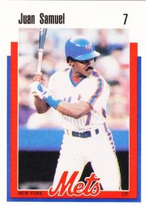 1989 Kahn's Mets Juan Samuel