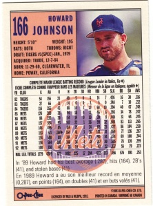 1993 OPC Howard Johnson back