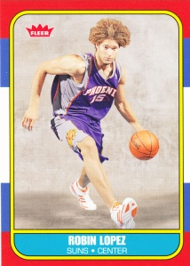 2008-09 Fleer 86-87 Retro Rookies Robin Lopez