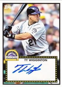 2011 Topps Lineage Ty Wigginton Auto