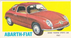 1961 Topps Sports Cars Abarth-Fiat