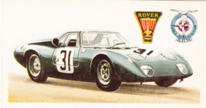 1968 Brooke Bond History Of The Motor Car #47 Rover BRM LeMans