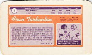 1970 Topps Super Football Fran Tarkenton back