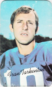 1970 Topps Super Football Fran Tarkenton
