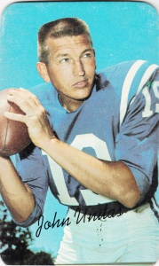 1970 Topps Super Football Johnny Unitas