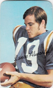 1970 Topps Super Football Lance Alworth