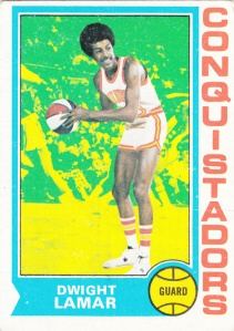 1974-75 Topps Basketball Dwight Lamar