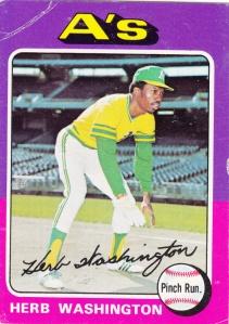 1975 Topps Herb Washington