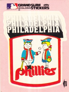 1978 Fleer Grand Slam Sticker Phillies