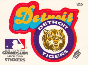 1978 Fleer Grand Slam Sticker Tigers