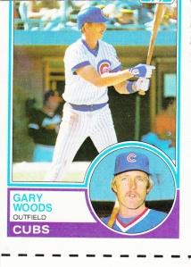 1983 Topps Gary Woods Miscut