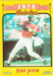 1988 Score Reggie Jackson 1976