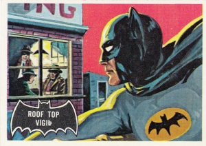 1966 Topps Batman Black Bat 5 Roof Top Vigil