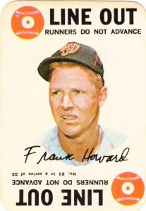 1968 Topps Game Frank Howard