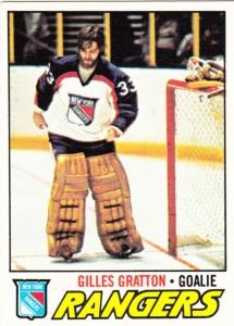 1977 78 Topps Gilles Gratton