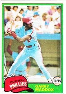 1981 Topps Garry Maddox