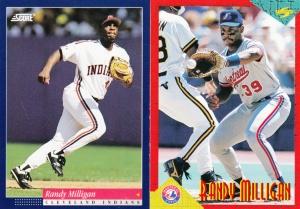 1994 Randy Milligan cards