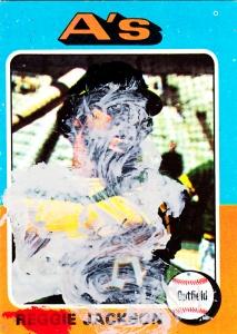 Brushed 1975 Reggie Jackson