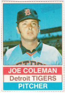 1976 Hostess Joe Coleman