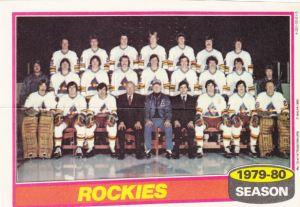 1980-81 Topps Hockey Rockies Pin UP