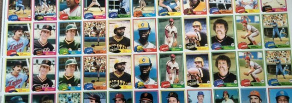 1981 Topps Sheet - Doubleprints