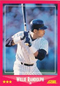 1988 Score Willie Randolph