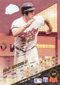1993 Leaf Brady Anderson back