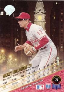 1993 Leaf Mickey Morandini back