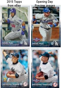 2015 Topps vs Opening Day comparison