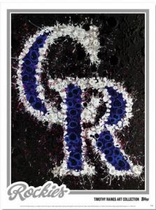 Topps Timothy Raines Art Collection - Rockies