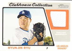 2015 Topps Heritage Clubhouse Collection Hyun-Jin Ryu