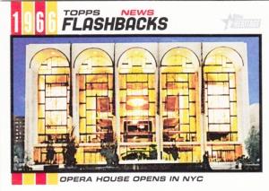 2015 Topps Heritage Metropolitan Opera House