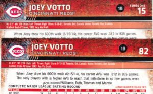 2015 Topps Opening Day vs Series 1 backs