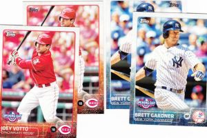 2015 Topps Opening Day vs Series 1 fronts
