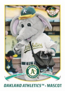 2015 Topps Stickers Athletics Mascot Stomper