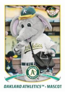 2015 Topps Stickers Athletics Mascot Stomper