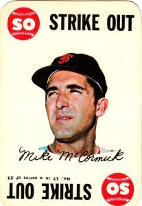1968 Topps Game Mike McCormick