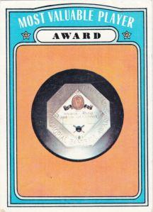 1972 Topps MVP Award