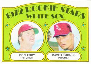 1972 Topps White Sox Rookie Stars Eddy Lemonds