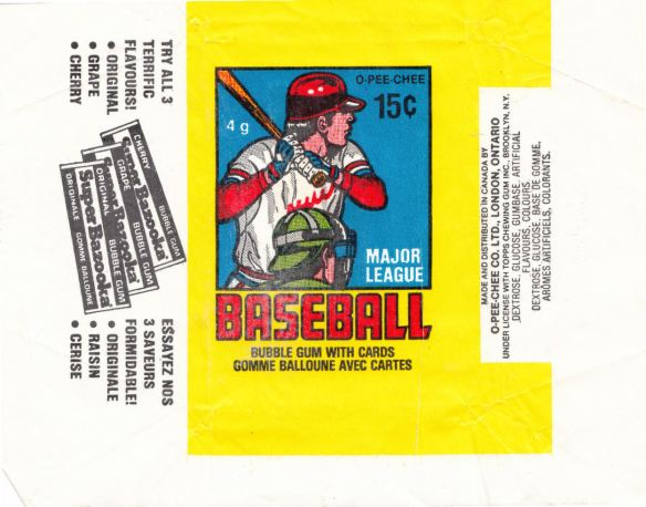 1979 O-Pee-Chee Baseball wrapper